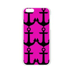 Anchor Pattern Pink Background Apple Seamless iPhone 6/6S Case (Transparent)