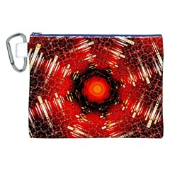 Angled Fractal Canvas Cosmetic Bag (XXL)