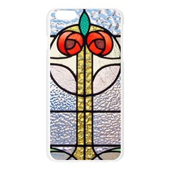Antique Stained Glass Apple Seamless iPhone 6 Plus/6S Plus Case (Transparent)
