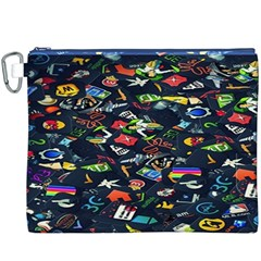Application Icons Computer Canvas Cosmetic Bag (XXXL)
