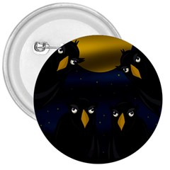 Halloween - black crow flock 3  Buttons
