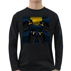 Halloween - black crow flock Long Sleeve Dark T-Shirts