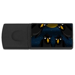 Halloween - black crow flock USB Flash Drive Rectangular (4 GB)