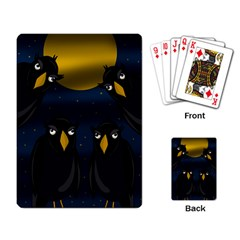 Halloween - black crow flock Playing Card
