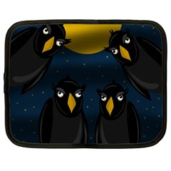 Halloween - black crow flock Netbook Case (Large)