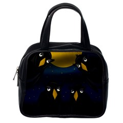 Halloween - black crow flock Classic Handbags (One Side)