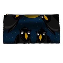 Halloween - black crow flock Pencil Cases