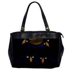 Halloween - black crow flock Office Handbags