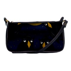 Halloween - black crow flock Shoulder Clutch Bags