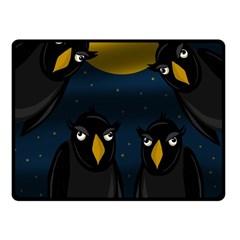 Halloween - black crow flock Fleece Blanket (Small)