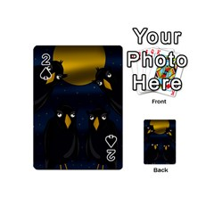 Halloween - black crow flock Playing Cards 54 (Mini)