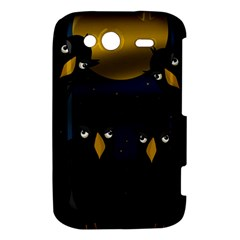 Halloween - black crow flock HTC Wildfire S A510e Hardshell Case