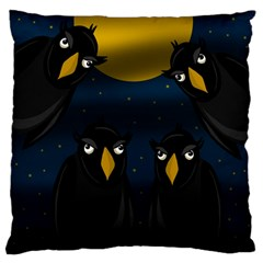Halloween - black crow flock Large Cushion Case (Two Sides)