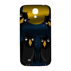 Halloween - black crow flock Samsung Galaxy S4 I9500/I9505  Hardshell Back Case