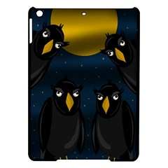 Halloween - black crow flock iPad Air Hardshell Cases