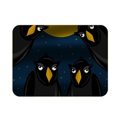 Halloween - black crow flock Double Sided Flano Blanket (Mini)