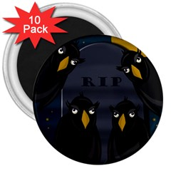 Halloween - RIP 3  Magnets (10 pack)