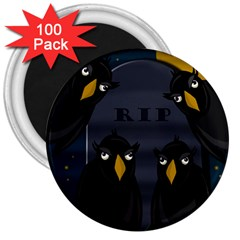 Halloween - RIP 3  Magnets (100 pack)