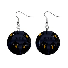 Halloween - RIP Mini Button Earrings
