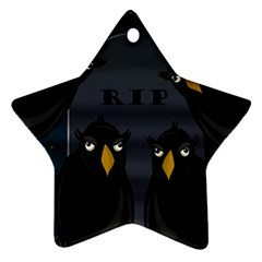 Halloween - RIP Star Ornament (Two Sides)