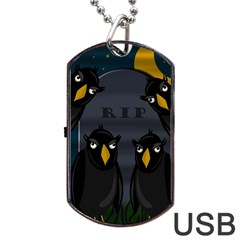 Halloween - RIP Dog Tag USB Flash (Two Sides)