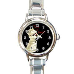 Halloween mummy   Round Italian Charm Watch