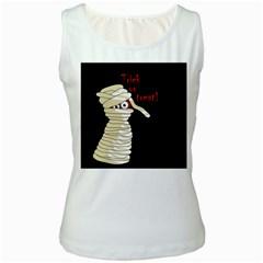 Halloween mummy   Women s White Tank Top