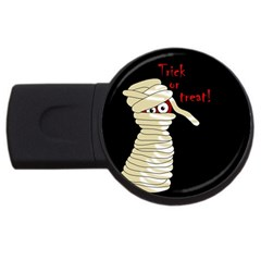 Halloween mummy   USB Flash Drive Round (4 GB)
