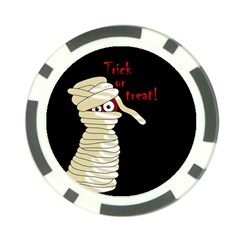 Halloween mummy   Poker Chip Card Guards (10 pack)