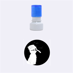 Halloween Mummy   Rubber Round Stamps (small)