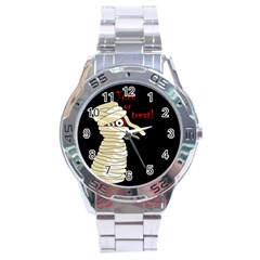 Halloween mummy   Stainless Steel Analogue Watch