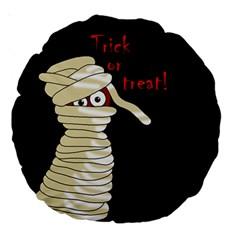 Halloween mummy   Large 18  Premium Round Cushions