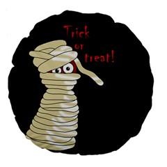 Halloween mummy   Large 18  Premium Flano Round Cushions