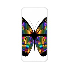 Abstract Animal Art Butterfly Apple Seamless iPhone 6/6S Case (Transparent)