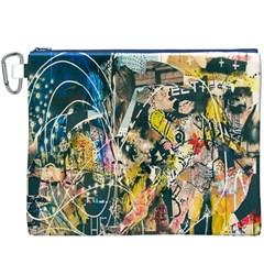 Art Graffiti Abstract Lines Canvas Cosmetic Bag (XXXL)