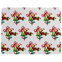 Bells Retro Christmas Paper Ribbon Jigsaw Puzzle Photo Stand (Rectangular)