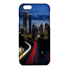 Building And Red And Yellow Light Road Time Lapse iPhone 6/6S TPU Case