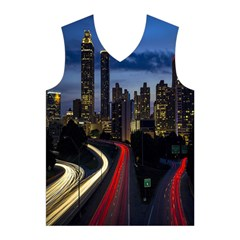 Building And Red And Yellow Light Road Time Lapse Men s Basketball Tank Top