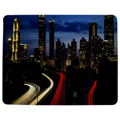 Building And Red And Yellow Light Road Time Lapse Jigsaw Puzzle Photo Stand (Rectangular)