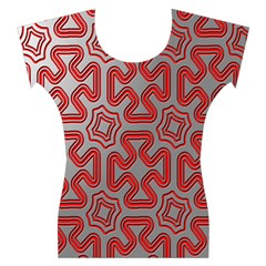 Christmas Wrap Pattern Women s Cap Sleeve Top