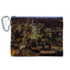 City Glass Architecture Windows Canvas Cosmetic Bag (XL)