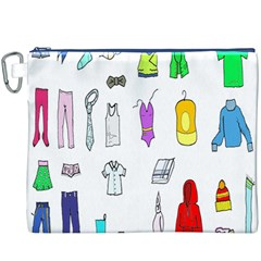 Clothing Boots Shoes Shorts Scarf Canvas Cosmetic Bag (XXXL)