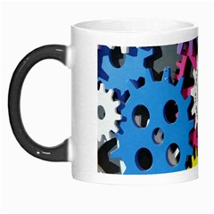 Colorful Toothed Wheels Morph Mugs