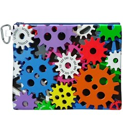 Colorful Toothed Wheels Canvas Cosmetic Bag (XXXL)