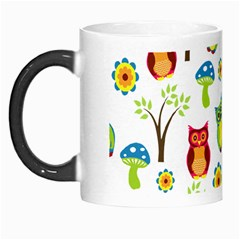 Cute Owl Wallpaper Pattern Morph Mugs