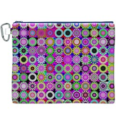 Design Circles Circular Background Canvas Cosmetic Bag (XXXL)