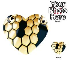 Honeycomb Yellow Rendering Ultra Playing Cards 54 (heart)