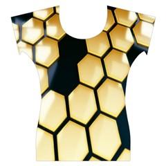 Honeycomb Yellow Rendering Ultra Women s Cap Sleeve Top