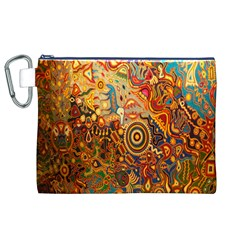 Ethnic Pattern Canvas Cosmetic Bag (XL)