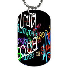 Miami Text Dog Tag (one Side)